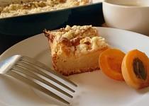 Bezlepkový koláč s meruňkami