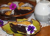 Čokoládovo - mandlový koláč s hruškami (bez mouky)