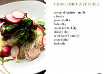 Tahini limetkové nudle