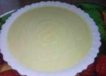 Cuketková krémová polévka