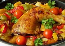 Kuře pečené v zelenině