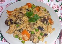 Bulgur s václavkami a zeleninou