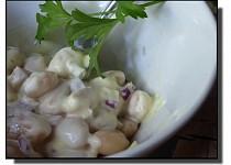 Fazolový salát s křenem