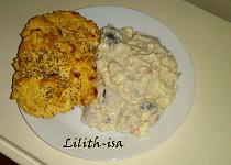 Rybí salát s ,,houstičkami,, (Dukanova dieta)