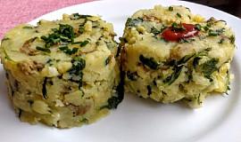 Šťouchané brambory se špenátem