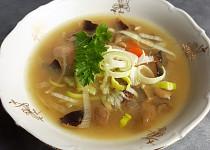 Houbová polévka s valašskou kyškou