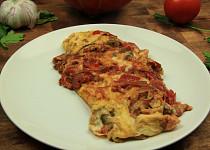 Omeleta se zeleninou a žampiony