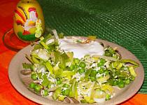 Pórkovo-hráškový salát