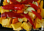 Dýně, další zelenina a koření do trouby