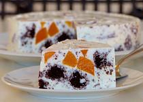 Tvarohový kostkový dort
