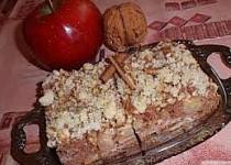 Jablkový / hruškový koláč s ořechovou drobenkou