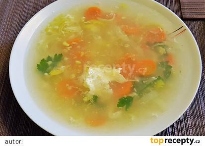 Rychlá polévka s vajíčkem
