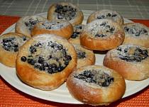 Špaldové borůvkové koláčky