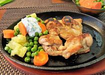 Kuřecí gyros steak na litinové pánvi (bez tuku)