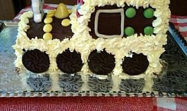 Narozeninový dort mašinka
