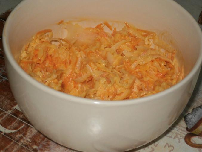 Salát z bílé ředkve s mrkví, salát z bíle ředkve s mrkví