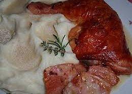 Bylinkové kuře s uzeným masem na smetaně