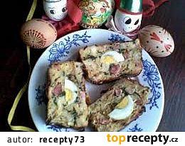Kopřivová velikonoční nádivka / žemlovka s vejci