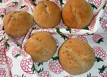Pšenično-žitné bulky s lněným semínkem