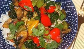 Rychlá zeleninová pánev s rýží