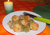 Rýžovo-šunkové kuličky s kapustou