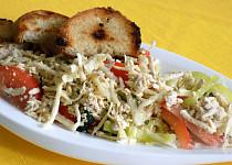 Kedlubnový salát s tofu