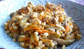 Špaldové kernotto s hlívou a mrkví