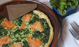 Listový koláč se špenátem a uzeným lososem