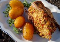 Nadívaná kachna pečená s bramborem (nejen) z remosky