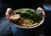 Omeleta z cizrnové mouky