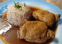 Přírodní dušené kuře na paprice