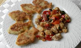 Rybí filé se zeleninou s bramborovými placičkami
