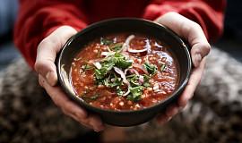Tomatová polévka s pohankou