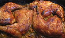 Kuřecí stehna pečená s pórkem