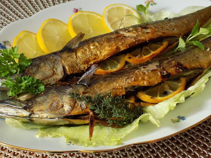 Makrely pečené na soli