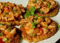 Ovesné bramboráčky s minutkovým kuřecím masem