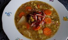 Slaninová polévka s brokolicí
