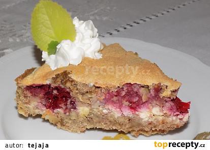 Jahodový koláč s vločkami