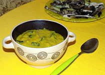 Houby s kurkumou