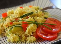 Rýže s květákem a cuketou