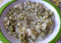 Cuketovo-brokolicová polévka - pro nejmenší