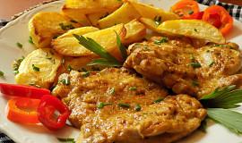 Marinované přírodní kuřecí řízky z trouby