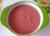 Krémová květáková polévka s červenou řepou - pro nejmenší