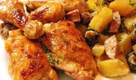 Kuře pečené s přílohou
