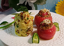Pikantní masová rajčata s mozarrellou