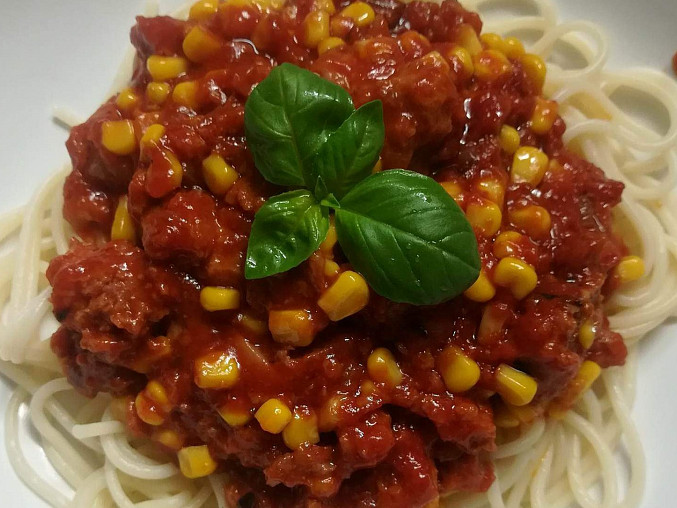 Špagety s masovou směsí, Špagety s masovou směsí