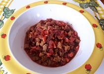 Těstoviny s hovězím masem a červenou řepou - pro nejmenší