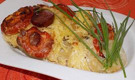 Zapékaná špagetová dýně s rajčaty