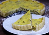 Rebarborový koláč křehký bez drobenky