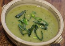 Pórková polévka veganská